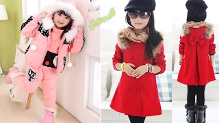 اجمل موضة ملابس بنات صغار لشتاء 2017 🌻 winter fashion for kids