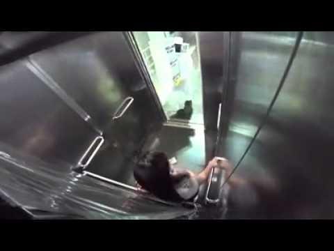 Abelhas atacam homem no elevador PEGADINHA