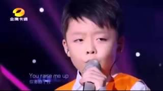 anak kecil suara emas bikin merinding dengan lagu YOU RAISE ME UP