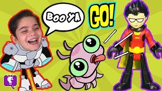 COUCH SURPRISE TOYS! With Joker! Imaginext TEEN TITANS GO Review + FUN HobbyKidsTV