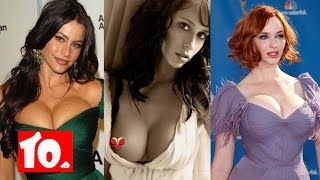 Top 10 Hot celebrities with natural big boobs