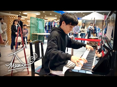 【ストリートピアノ 6】F.ショパン 英雄ポロネーズ Op.53【神戸駅地下街「デュオこうべ」】