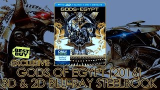 Gods of Egypt (2016) Best Buy Steelbook | 3D & 2D Blu-ray | Gerard Butler | Showcasing / Unboxing