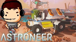 Let's Play Astroneer - Ep 3 - TRUCK, RESEARCH AND LITHIUM!! - Astroneer Game Gameplay - Pre-Alpha