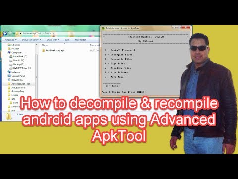 How to decompile android apps using Advanced ApkTool (newHD)