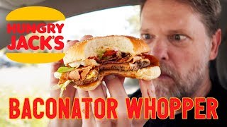 NEW WHOPPER BACONATOR from HUNGRY JACKS FOOD REVIEW - Greg's Kitchen