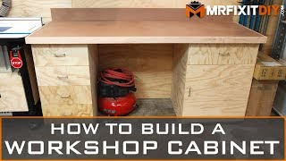 How to Build a Workshop Cabinet (FREE DOWNLOADABLE PLANS)