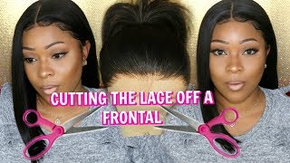 Lace Frontal Series: How To Cut The Lace Off A Frontal | Glueless Natural Wig Tutorial BestLaceWigs