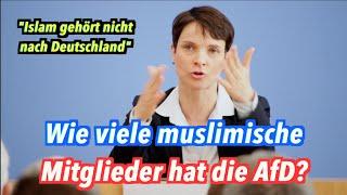 Wie viele muslimische Mitglieder hat die AfD, Frauke Petry?