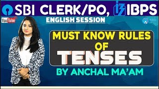 IBPS RRB,SBI  Must Know Rules of Tenses   English   Anchal mam
