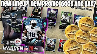 LINEUP UPDATE AND NEW PROMO! W OR L? Madden 18 Ultimate Team