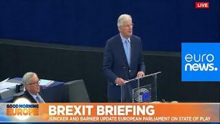 Live | Juncker, Barnier address the European Parliament on Brexit