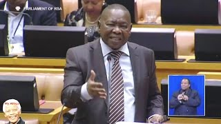 Blade Nzimande Battles Answer Question In Parliament. FUNNY
