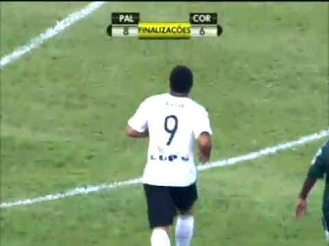 Gol de Ronaldo Corinthians 1 x 1 Palmeiras Campeonato Paulista 08 03 2009