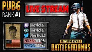 PUBG Rank 1 Live Stream: Menthol_TV - PLAYERUNKNOWN'S BATTLEGROUNDS