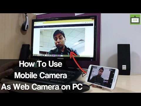 How To Use Mobile Camera As Web Camera on PC Hindi