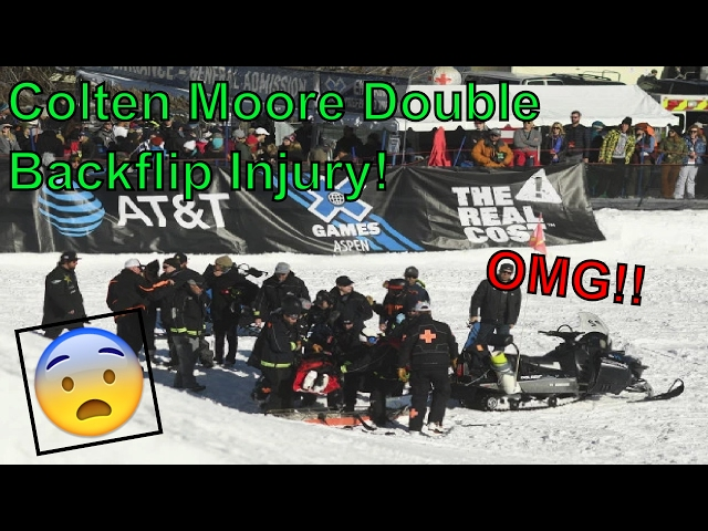 Aspen X Games 2017 Snowmobile Freestyle Crashes and Fails | Full Colten Moore Double Backflip Injury