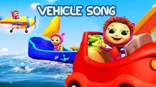 Vehicle Song (Learn Colors) | Educational Nursery Rhymes with Baby Joy Joy