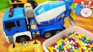 Truck for Kids Cement Mixer Gumball Toys Pororo Truck Excavator Toys Nursery rhymes YapiTV Toys