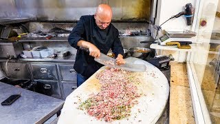 INSANE KEBABS Handmade With a Sword - Palestinian Food in Nazareth!