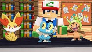 Minecraft: Pokemon X Y - Froakie, Fennekin ou Chespin? #1