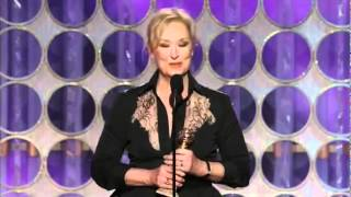 Meryl Streep - Golden Globe Best Actress Speech 2012 - Iron Lady