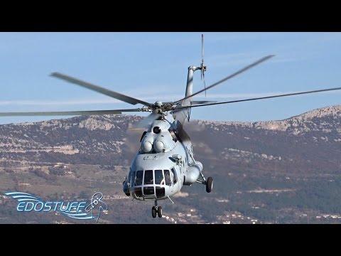 Croatian Air Force Mil Mi-8 MTV-1 - Landing & Close Overhead Takeoff - LDSP/SPU