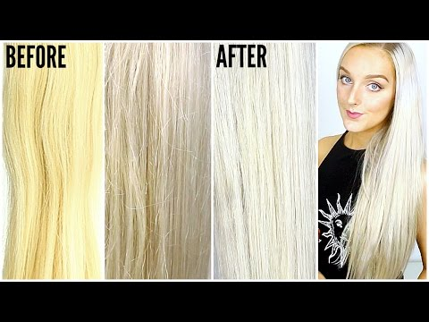 How To Get Silver Hair AT HOME! (Fix brassy hair)