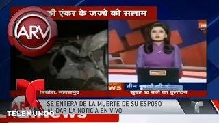 Presentadora se entera de muerte de su esposo en vivo | Al Rojo Vivo | Telemundo
