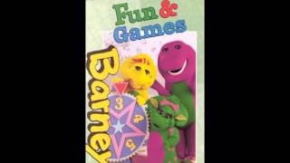 Barney's Fun And Games 1996 VHS