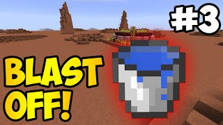 Minecraft: THE GREAT WATER MISTAKE - Blast Off! Ep. 3 (HQM Modpack)
