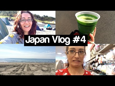 Japanese Beach, Shopping & Weird Drink // JAPAN VLOG WEEK 4!