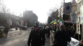 Ukrainians, Syrians: Putin, shame on you! Russian embassy, London