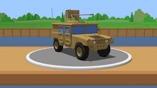 Bulding and testing Hummer H1/HMMWV (Humvee) - cartoon for kids
