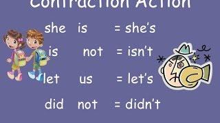 Contractions Grammar  - Second Grade Word Games kids