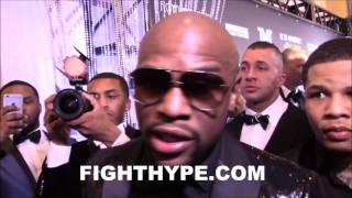 FLOYD MAYWEATHER REACTS TO NEWS OF PACQUIAO VS. KHAN AND CANELO VS. CHAVEZ JR.: