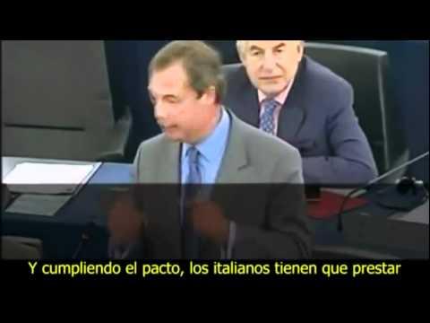 Rajoy es el líder más incompetente de toda Europa Nigel Farage Eurodiputado Subtitulado