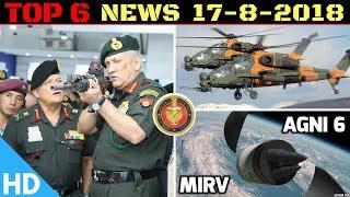 Indian Defence Updates : MoD Shortlists 3 Rifles for Army,AGNI-6 Development,Turkey-PAK T-129 Stuck