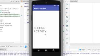 How to Add Button Click Event in Android Studio plus How to Move to Another Activity