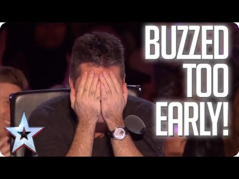 UH OH When the Judges buzz TOO EARLY Britain s Got Talent