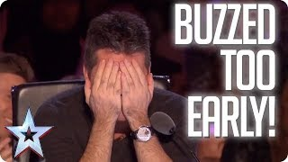 UH OH! When the Judges buzz TOO EARLY! | Britain