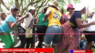 Celebrating President Mugabe's impeachment
