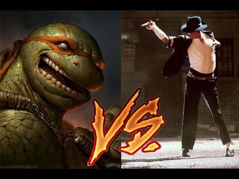 Michael Jackson vs Ninja Turtle
