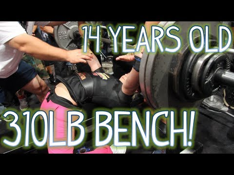 14 YEAR OLD GIRL BENCH PRESSES 310LBS! (140KG)