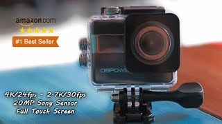Best Amazon 4K Action Camera - Touchscreen 20 Mega Pixels GoPro Alternative