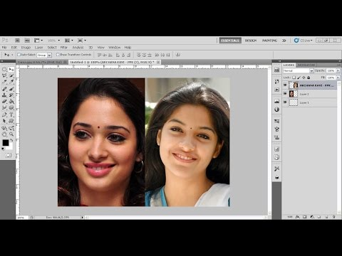 How To Swap Faces / Face Swapping | Photoshop Tutorial in Telugu