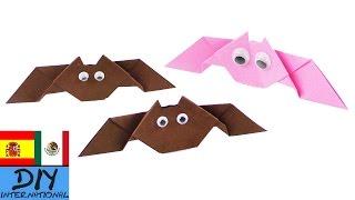 Origami: Murciélago | Idea para Halloween | Murciélago de papel