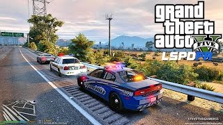GTA 5 LSPDFR 0.3.1 - EPiSODE 27 - LET'S BE COPS - SHERIFF PATROL (GTA 5 PC POLICE)  HIGH SPEED