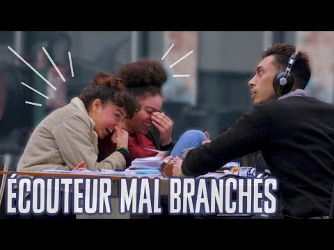 Ecouteurs mal branchés à la Bibliothèque Prank DIMI