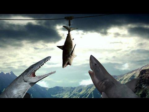 watch Mosasurus vs Megalodon-Who Would win?